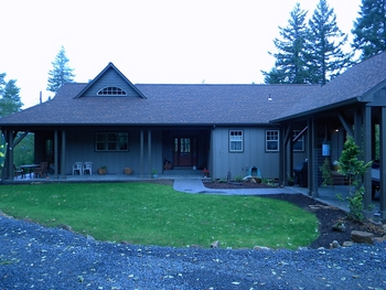 Front of House with Attractive Yard | Beautiful Home in the Woods at the edge of Eugene